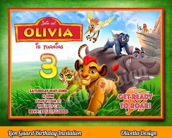 Lion Guard Invitation Lion Guard Invite Printable Lion Guard – Lion Birthday Invitations
