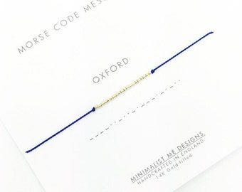 Morse Code university graduation bracelet - personalised graduation gift