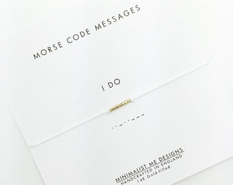 Morse Code 'I do' wedding day bracelet