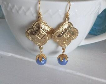 Brass boho earrings