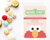 Elmo Invitation | Elmo Invite | Elmo Birthday Party Invitation | Sesame Street Invitation | Sesame Street Birthday Party