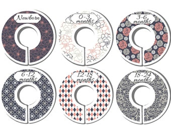 Premade Dividers, Baby Closet Dividers, Baby Shower Gift, Nursery Dividers, Closet Organizers, Closet Dividers, CD47