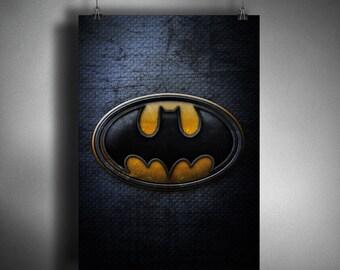 Batman Symbol - Superhero Symbol Poster