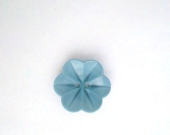 flower buttons blue buttons pack of 6 flower blue buttons pack of buttons