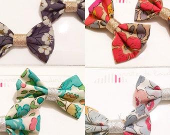 Barrettes node Liberty - choice color fabric
