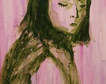 Prudence. Original Acrylic Portrait.