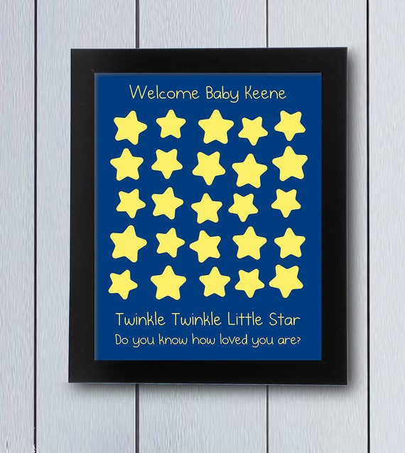 Twinkle Little Star Guest Book / Printable Pdf / Baby