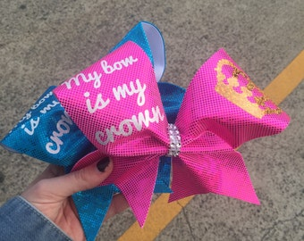My Bow is My Crown cheer bow