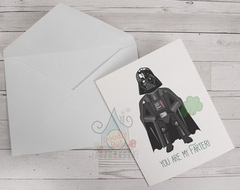 Fathers Day card You are my Farter Fathers Day card Funny Fathers Day card pun card Geeky card designed by Doodle Dot