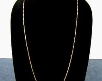 Womens Vintage Estate Sterling Silver .925 Italian Necklace 7.7g E2285