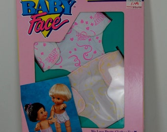 "Vintage Galoob Baby Face ""Fashion Diapers"" NIB, 1990 Galoob"