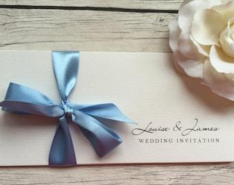 Triple Panel Wedding Invitation