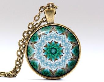 Mandala jewelry Geometry necklace Bohemian pendant OWA690