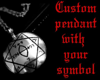 Custom medallion with your symbol, sigil, picture | ritual amulet, occult necklace, magick jewelry, magic talisman, ritual pendant, lamen