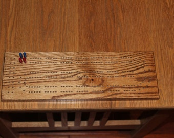 Handmade Hardwood Cribbage Board