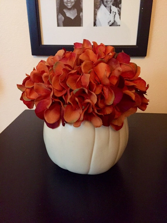 White pumpkin centerpiece thanksgiving by briellacreations