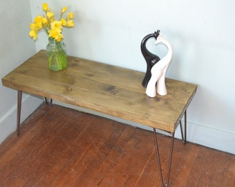 Industrial Coffee Table Mid Century Style Hairpin legs