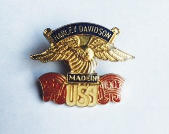 Vintage Harley Davidson lapel pin