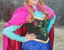 Cosplay Anna Costume Frozen Princess