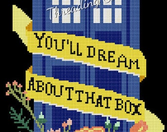 Counted Cross Stitch Pattern - Doctor Who Tardis