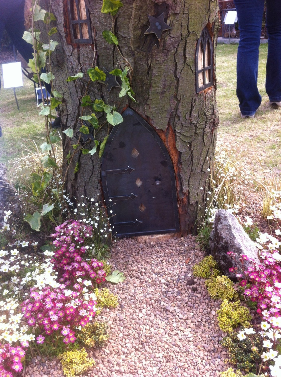 Fairy house doors and windows plus a chimney for Fairy house doors