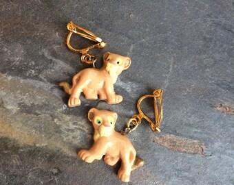 Vintage Disney Lion King Clip on Earrings