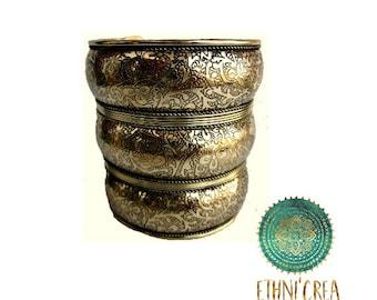 Bracelet ethnic boho handmade brass