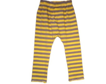 18 M-24 M, Grey and Yellow Striped Leggings