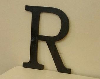 "15"" Wooden letter R Font is David"