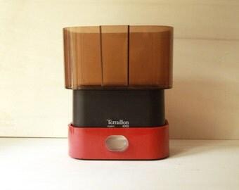 Sale 20% off-Scale French design vintage black red plastic Terraillon Export basket 4000 transparent Brown