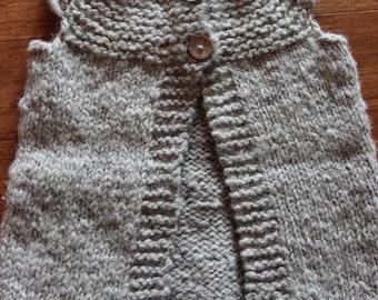 Toddler knit vest