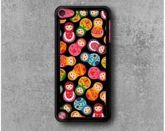 iPod Touch 5 Case Black Russian dolls matriochkas + Free Worlwide Shipping
