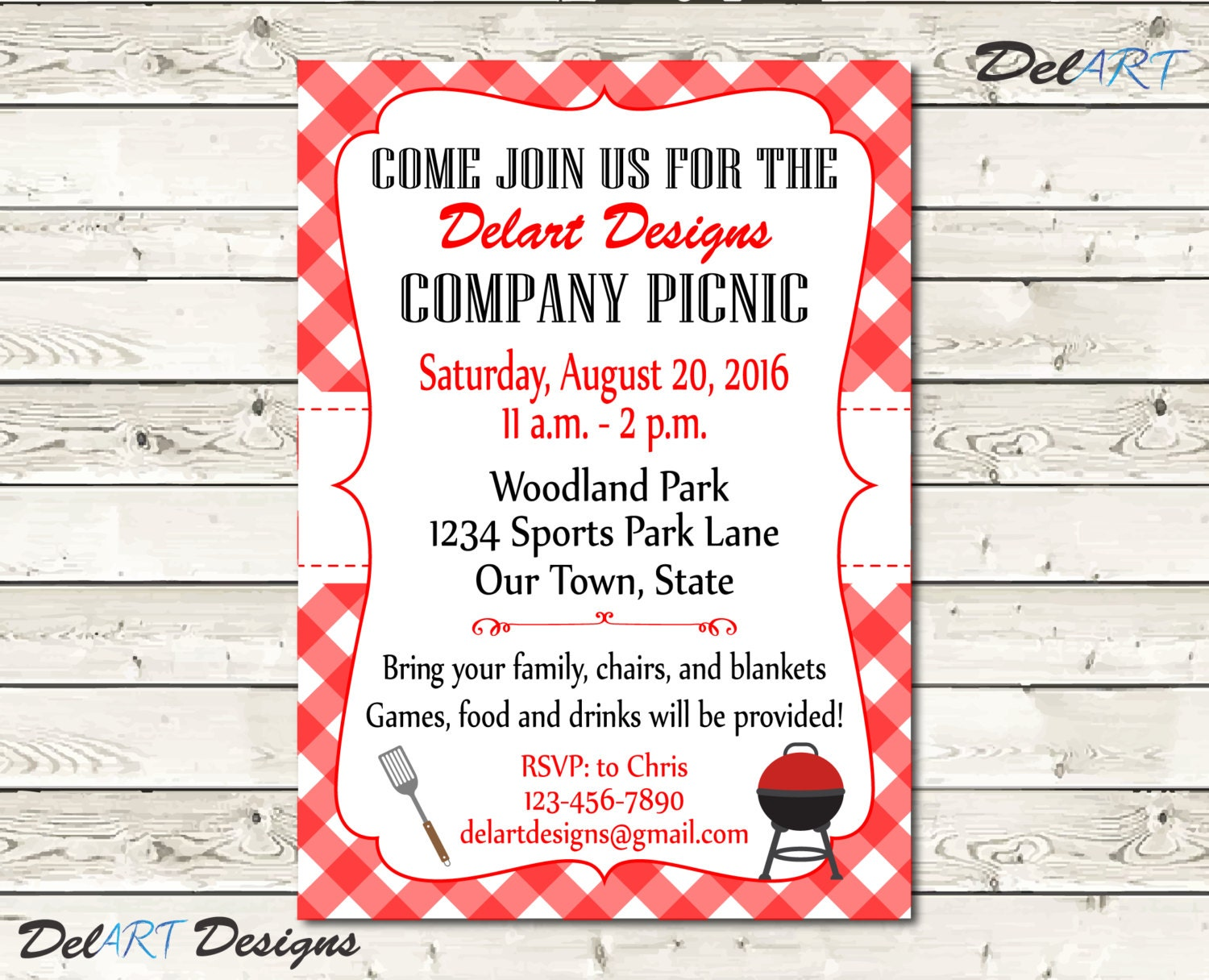 corporate invitation custom picnic invitations company bbq invite church or business party printable digital file after customization jpg or pdf