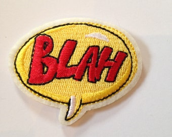 Blah Speech Bubble Iron on Patch