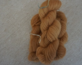 Icelandic pure wool, hand dyed with Rheum rhabarbarum 240915-313