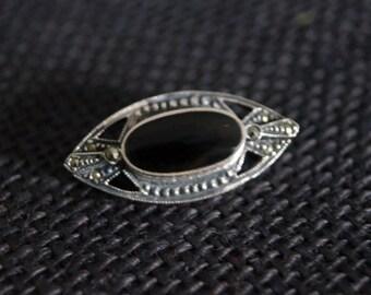 Vintage Sterling Silver Brooch - Vintage Marcasite Brooch - Vintage Pin - Vintage Silver Pin - Vintage Silver Brooch - Vintage Marcasite Pin