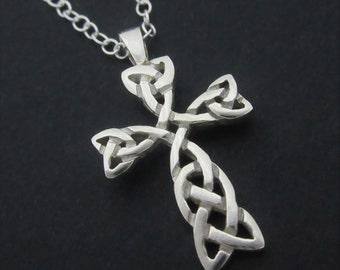 Sterling Silver Celtic Knot Cross
