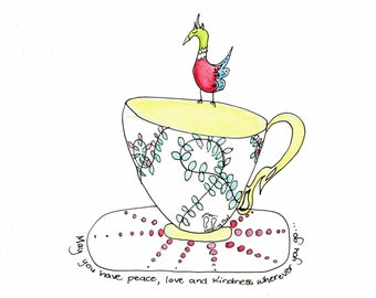 Birdie On A Teacup