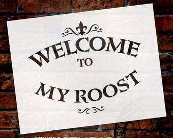 """Welcome To My Roost - Word Stencil - 11"""" x 8.5"""""""