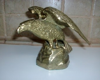 Vintage solid brass 5 inch eagle