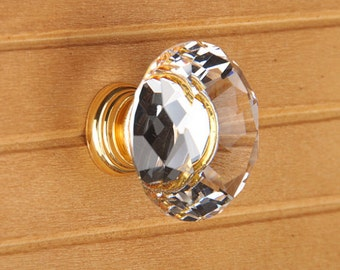 Clear Glass Crystal Knobs Cabinet Knob /Dresser knobs cabinet Dresser Knobs / Dresser Pull / Cabinet Knobs / Furniture Knobs