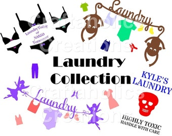 The Laundry Collection..................SVG FCM & MTC Digital Downloads