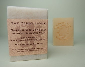 Geranium and Verbena Soap enriched with Shea and Avocado Butter