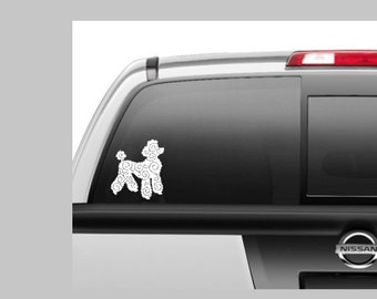 Poodle Car Decal, Custom Decal, Gift for Mom, Dog Decal, Window Decal