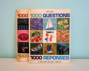 1000 questions, 1000 réponses : volume 2 by Alain Grée - Vintage French Children Book