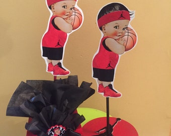 Baby Jordan Jumpman Sports Themed Baby Shower Centerpiece, Basketball Baby  Shower Centerpiece, Baby Boy