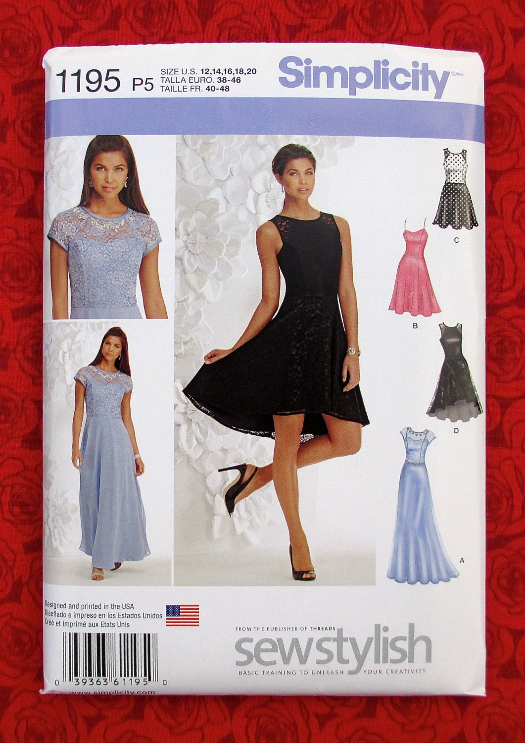 Simplicity Sewing Pattern 1195 Evening Gown Special Occasion Dress ...