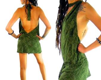 Dress Mini Lace, Steampunk, Short Dress, Psy Trance, Top .