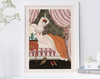 EROTIC FASHION POSTER - Antique Erotica, Romantic Poster, Art Deco Wall Art - Professional Reproduction
