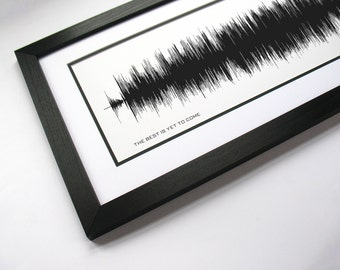 The Best is Yet to Come - Music Art Sound wave Print - Song Lyric Art, Traditional Artist Poster